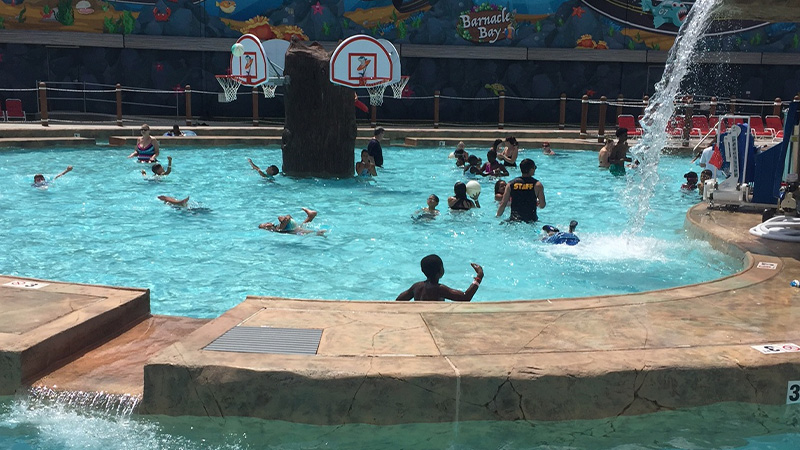 Swimming Pool with Basketball Hoops