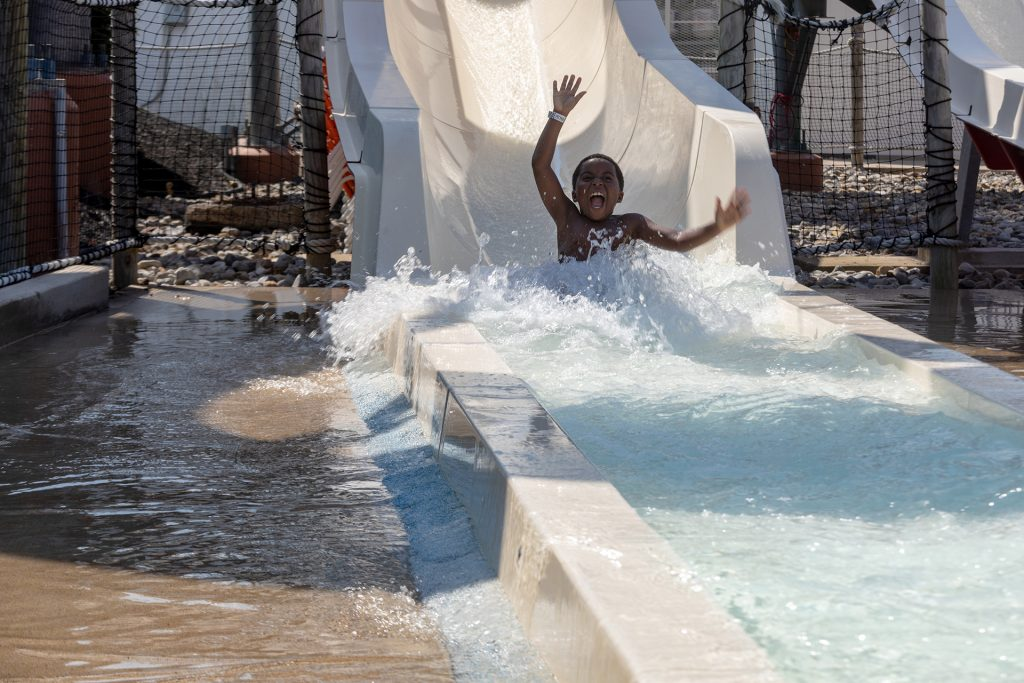Body Waterslides in the Waterpark